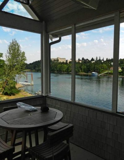 This view looks down river and as you can see this metal mesh allows for a great view. This is not at all like most metal mesh options on the market.
