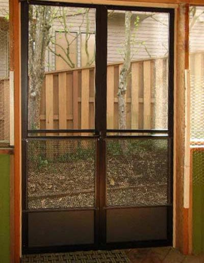 This is a French door setup with all the same parts as the last door plus an added astragal lock for the stationary side door.