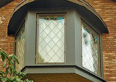 These panels are clipped onto the outside of opening casement windows.
