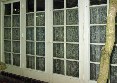 These panels are clipped onto the outside frames of the doors.