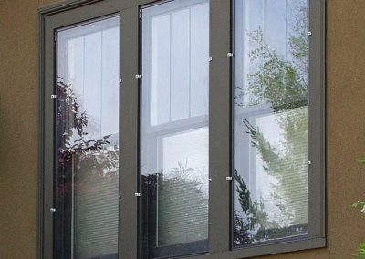 These panels are clipped onto the outside trim of the windows.
