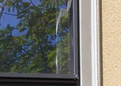 This Good series storm window has the Bronze colored finish.