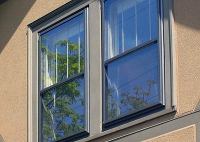 This Good series storm window has an inside sliding screen for top or bottom ventilation.