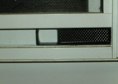 All Best series storm windows have large holed finger latches for men with big fingers to easily raise the lower glass panel and vent with a bottom screen.
