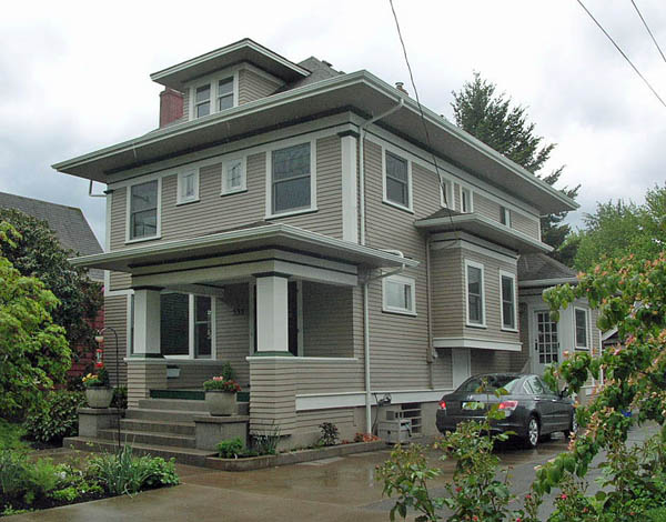 This old historic home has new aluminum framed window screens that are hardly noticeable against the window trim.